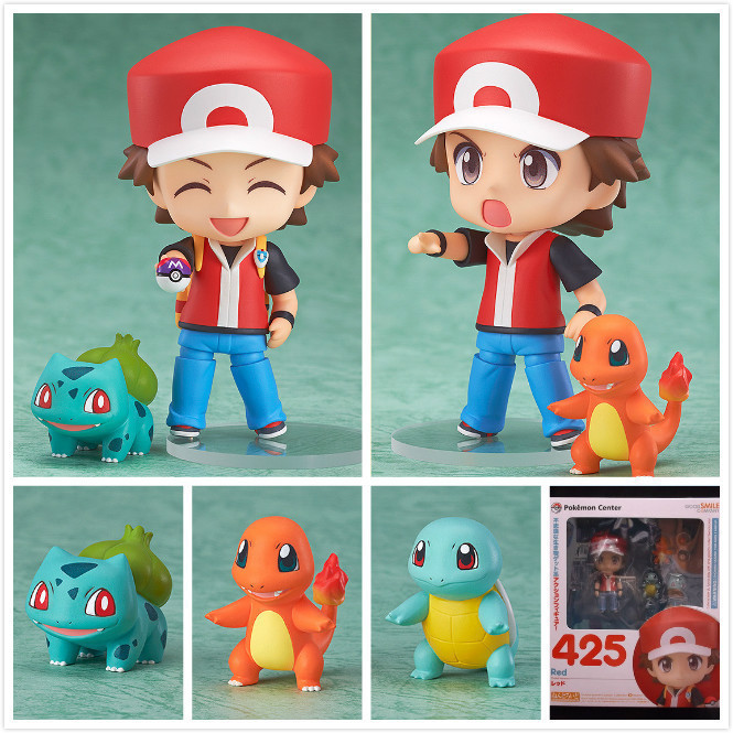 Pokemon Action font b Figure b font Pocket Monster Toy Nendoroid Ash Ketchum Zenigame Charmander Bulbasaur