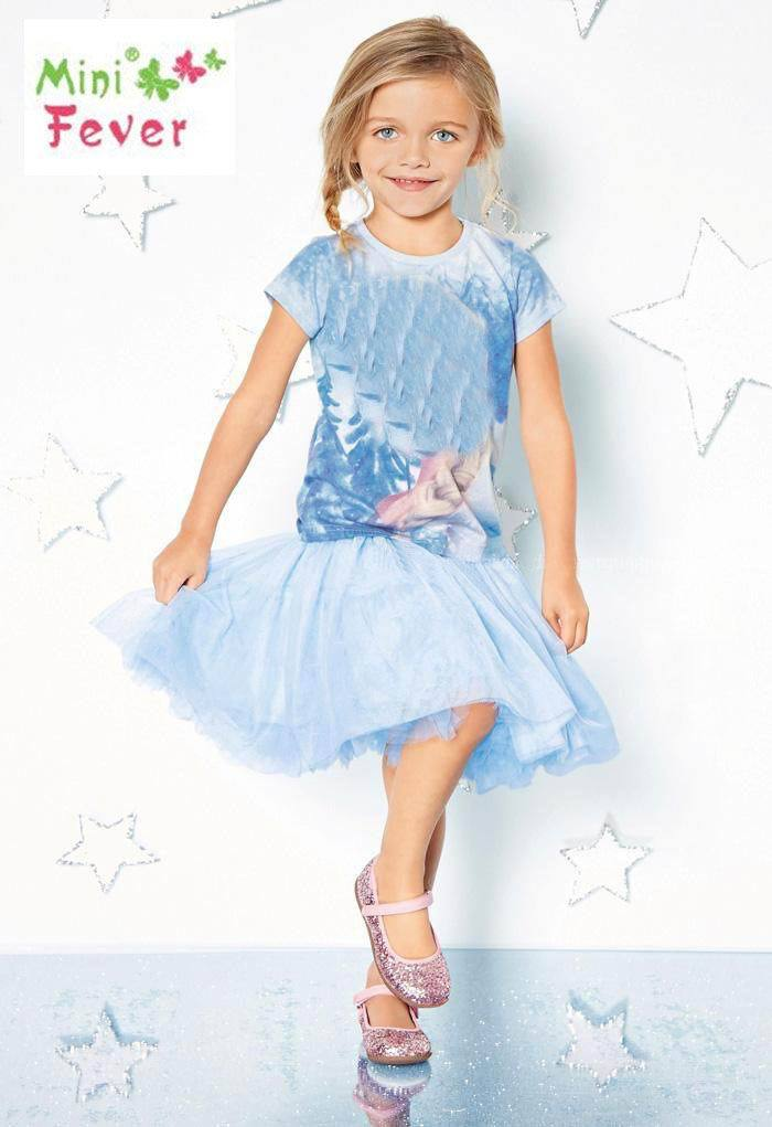Girl Sets 2015 New Snow Cartoon Short Sleeve T-shirts+Gauze Skirt 2pcs Children Sets 2-7Y 1548(China (Mainland))