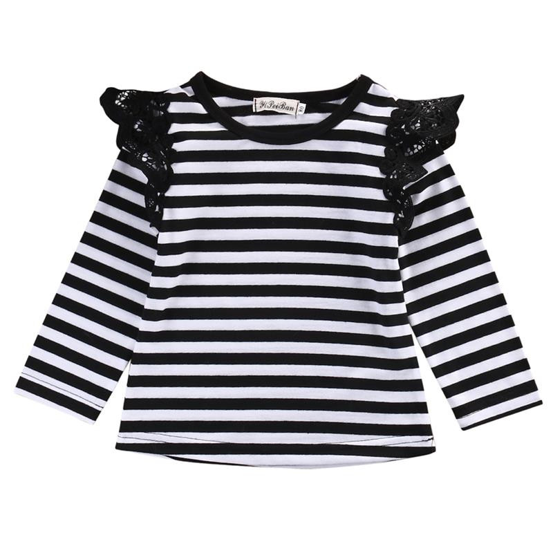 2016 Newborn Baby Girls Toddler Kids Clothes Long Sleeve shirts Tops Outfit Blouse