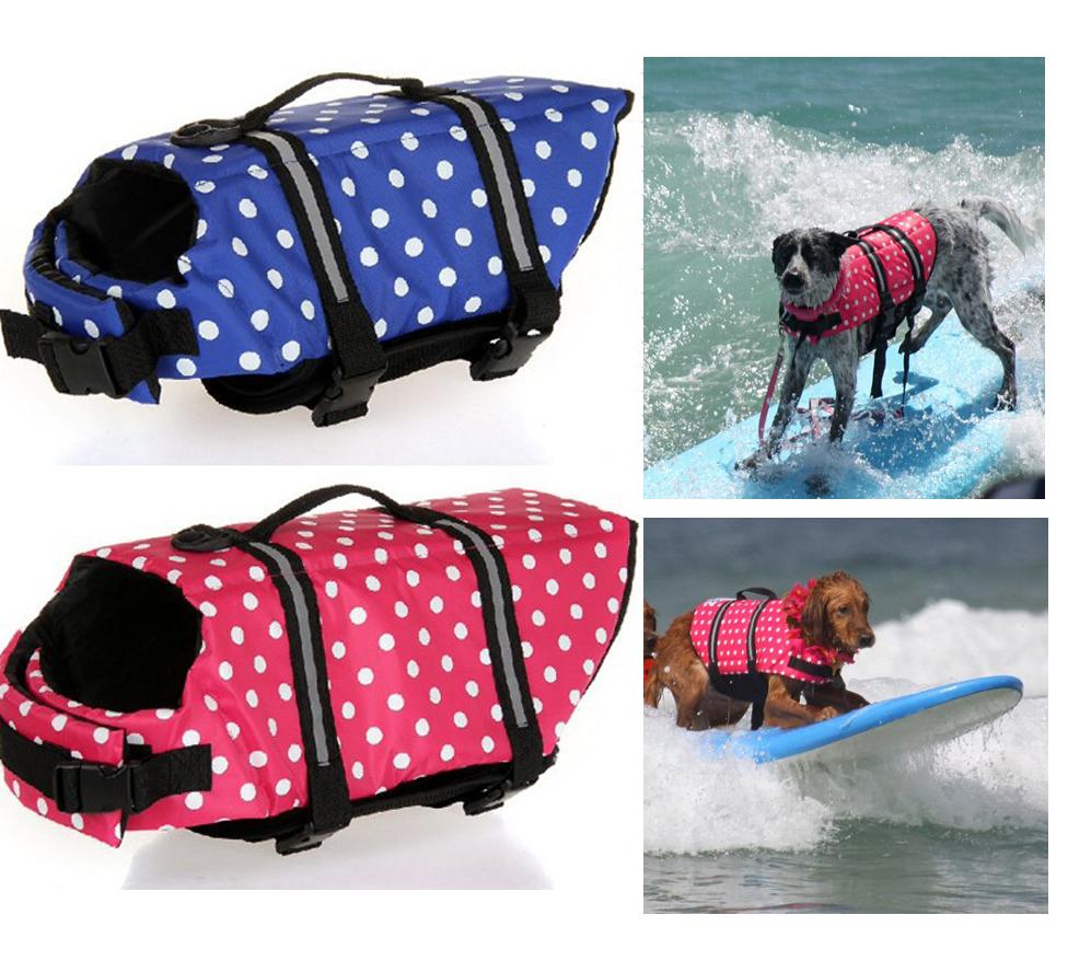 New Fashion Dog Pet Float Life Vest Jacket Aquatic Safety Saver Swimming Boating Clothes Pet Swimming Preserver(China (Mainland))
