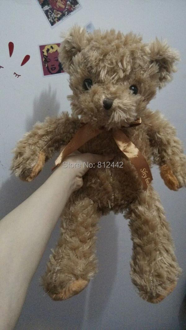 FREE SHIPPING 45cm Valentines Day Girlfriend Present Kawaii Cute Doll Teddy Bear Plush Toy Soft Stuffed Animal For Birthday Gift(China (Mainland))