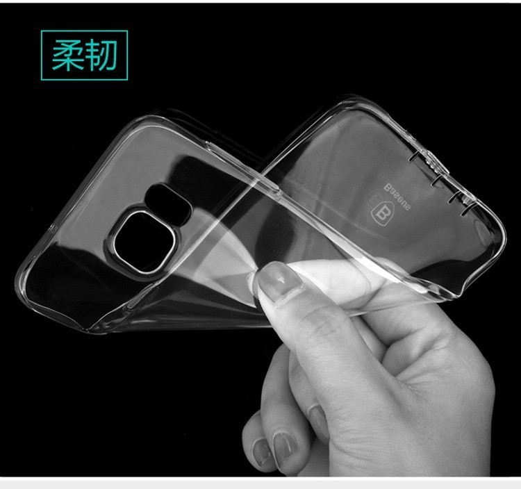 Free Shipping! Brand BASEUS Air Series Soft TPU Clear Transparent Back Case For Samsung Galaxy S7 Edge Note 7 Ultra Slim Cover