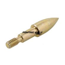 6PCS Bow and Arrow Hunting Broadheads 100 Grain Bullet Shape Golden 3 8cm Arrowhead Tip for
