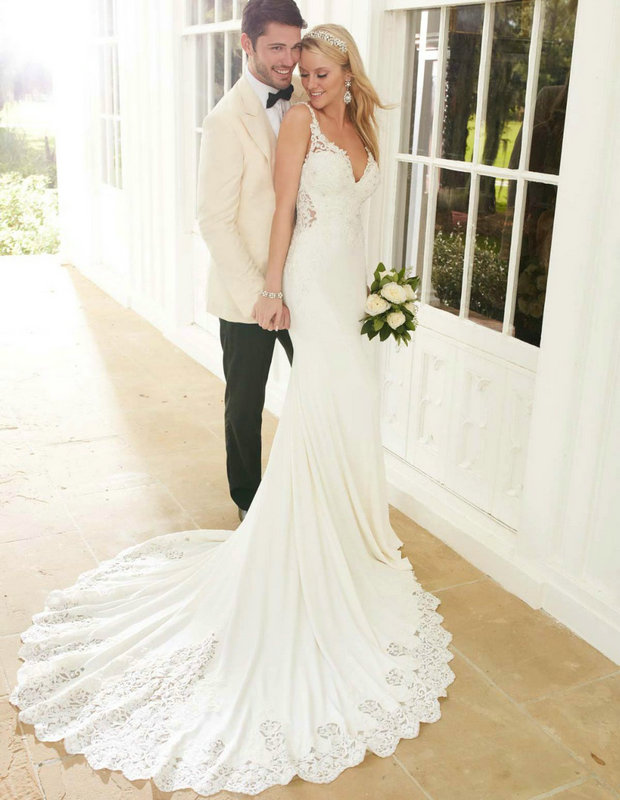 Zz9 сексуальная спинки без рукавов свадебное платье 2016 спагетти-ремни кружева-аппликации длиной до пола свадебное платье vestido де noiva