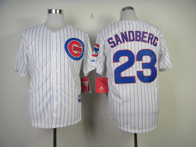 Chicago Cubs Jersey 23# Ryne Sandberg Jersey Embroidery Authentic Big Size 60 Cheap Short Sleeve Baseball Jersey(China (Mainland))