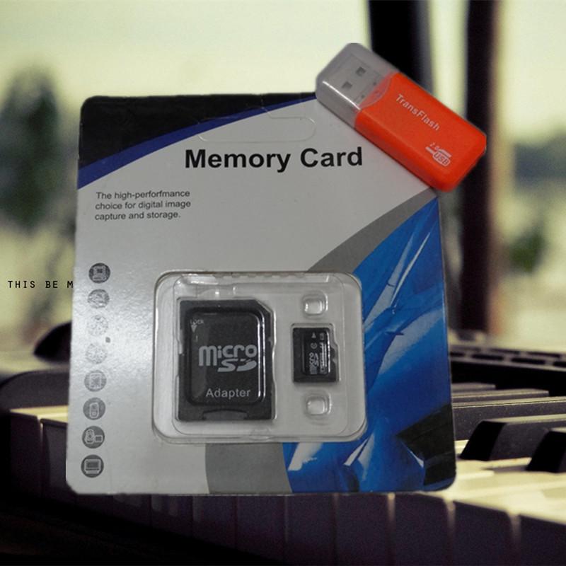 Hot Micro SD card Class10 4GB 8GB 16GB 32GB 64GB TF card Memory Card flash card gift adapter+reader blister kits mobile phone(China (Mainland))