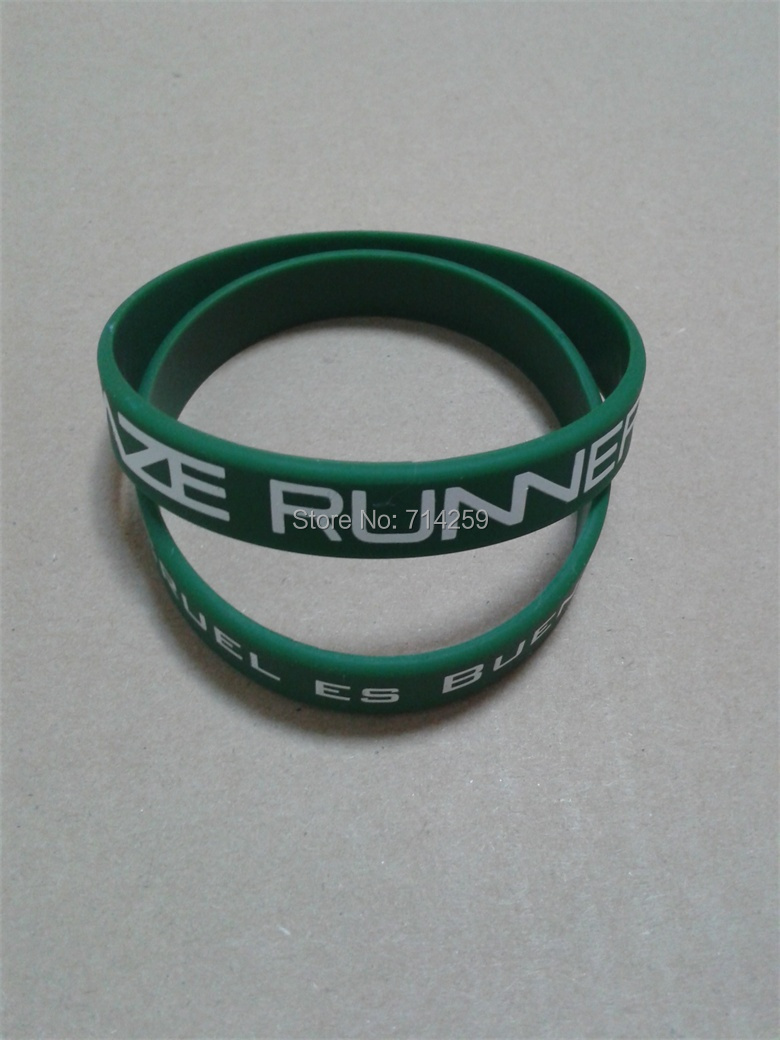 200pcs Customized Personalized Screen Print Text Logo Rubber Wristband For  Events P092302