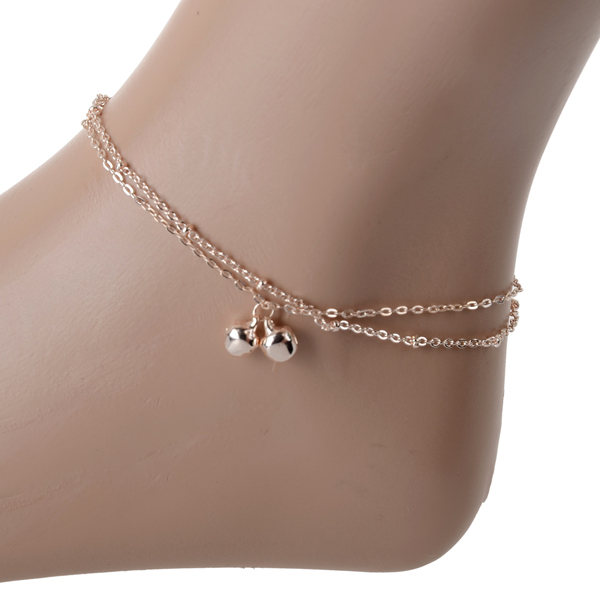 Fashion lovely Golde Bells Plated Chain Anklet Ankle Bracelet Foot Jewelry Barefoot Beach Anklets - Yiwu Ino E-Commerce Co., Ltd. store