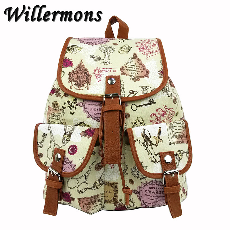 Willermons New Exclusive Handmade Bohemian Mochila Vintage Backpack Drawstring Printing Canvas Bagpack Sac a Dos Femme Rucksack<br><br>Aliexpress