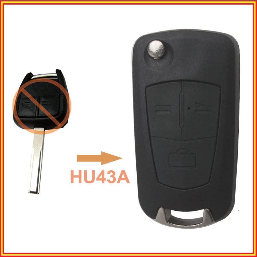 New Flip Key Remote Control Shell Case 3 Button for Opel Vectra Antigo Omega Suprema Agile Montana HU43A(China (Mainland))