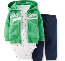 2015 NEW carters Spring and Autumn baby boys and baby girls clothing set Fourteen colors