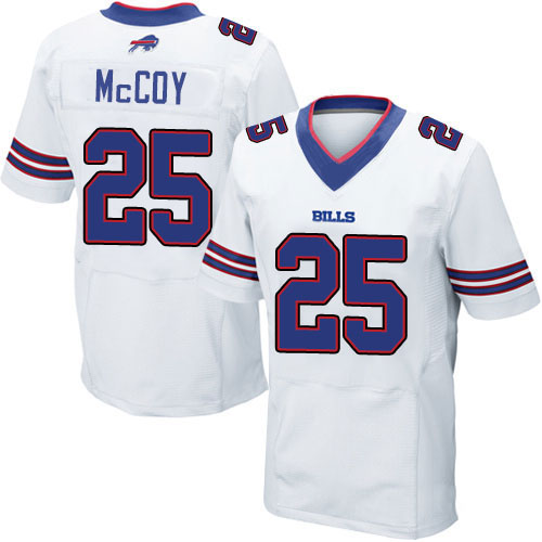 Men's #25 LeSean McCoy Elite White Football Jersey 100% stitched(China (Mainland))