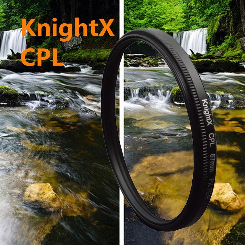 KnightX 49- 77mm 67MM cpl Filter for Canon Nikon D5300 D5500 DSLR camera Lenses lens accessories camera d5200 d3300 d3100 d5100(China (Mainland))