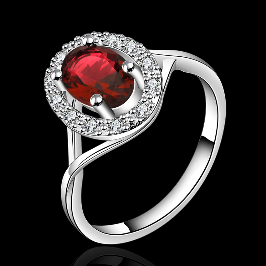 R644 Hot factory wholesalesilver plated accessories fashion refined elegance woman sparkling crystal Ring romantic style(China (Mainland))