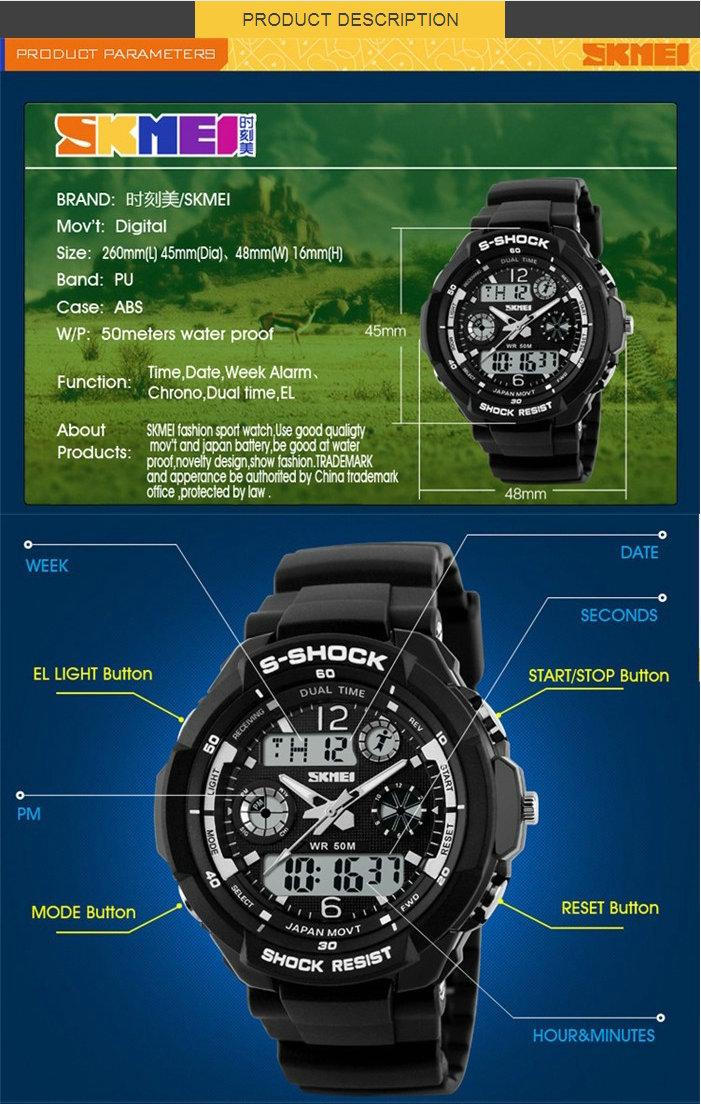 Сделано в китае instrucciones дель reloj skmei 0931 спортивные часы ручной
