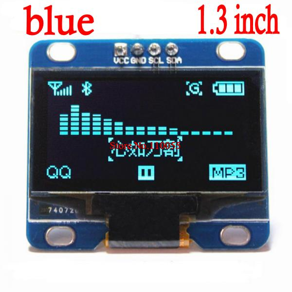 """1PCS blue and white color 128X64 1.3 inch OLED LCD LED Display Module For Arduino 1.3"""" IIC SPI Communicate(China (Mainland))"""