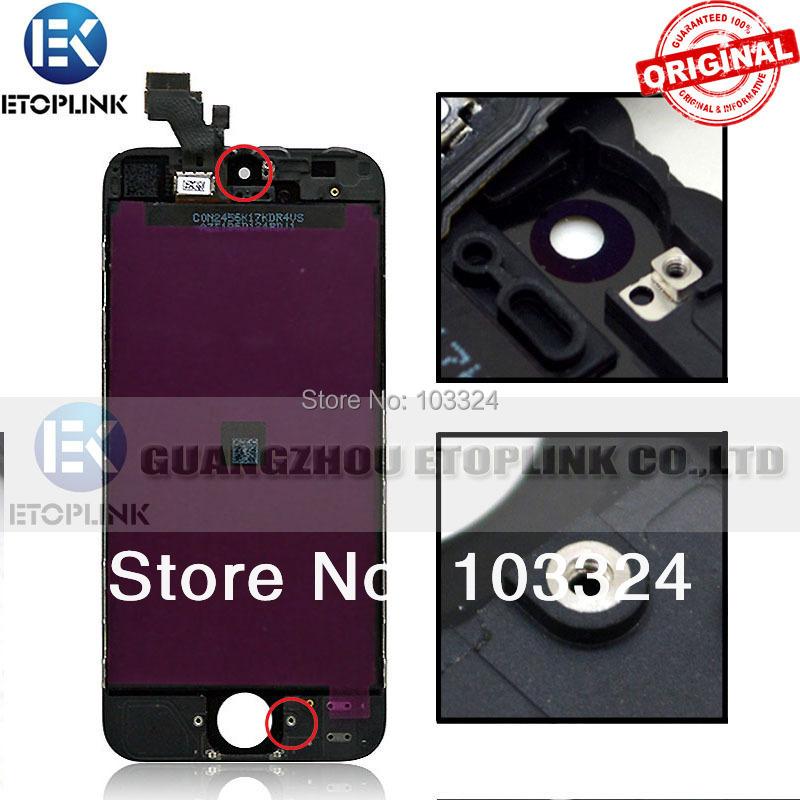100% ORIGINAL guarantee! LCD Touch Screen replacement screen Digitizer iPhone 5 display full assembly black&white - Guangzhou Etoplink Co., Ltd store