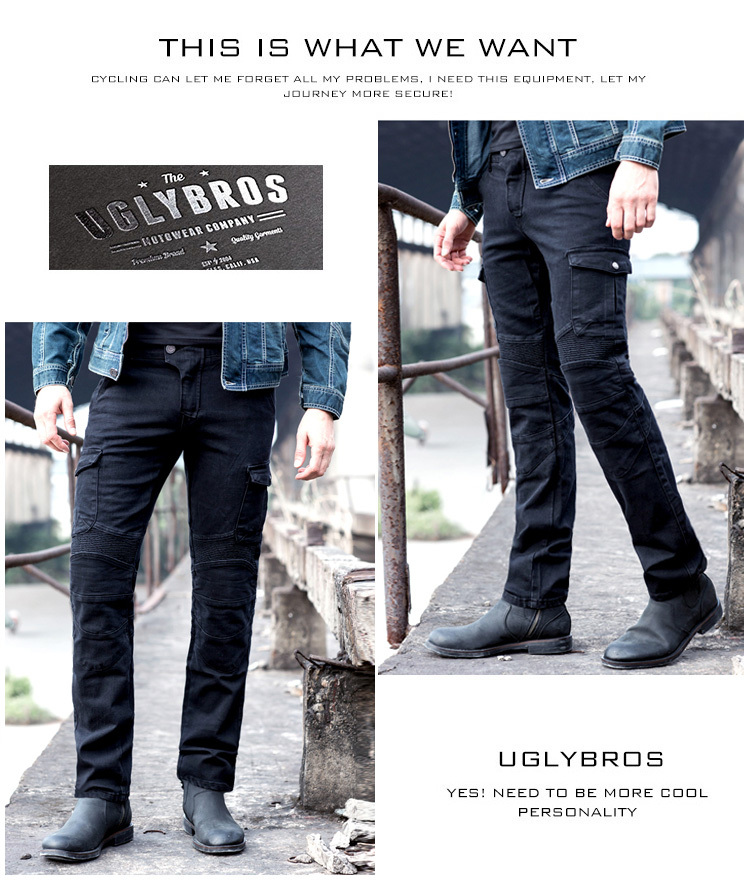 Hot sales 2015 New Uglybros MOTORPOOL UBS06 jeans Motorcycle ride jeans Leisure jeans man ptans motor pants
