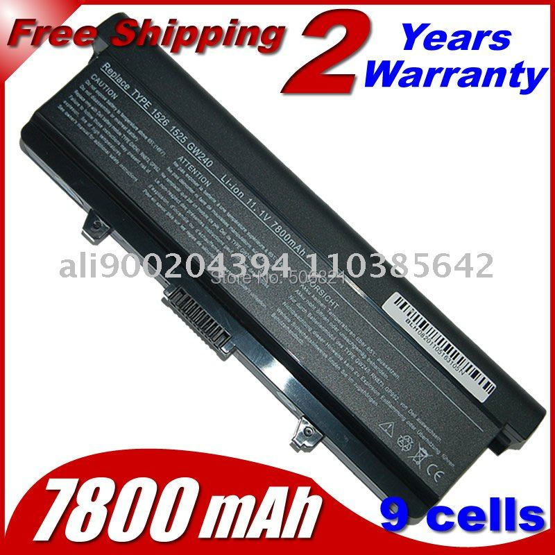 Replacement Laptop Battery For Dell Inspiron 1525 1526 RU586 GW240 HP2971545 312-0633 312-0634 312-0763 RN873 312-0844 451-1047(China (Mainland))