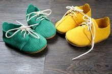 New Genuine Leather baby shoes First Walkers The design Toddler baby moccasins lace-up Shoes 13-16cm free shipping(China (Mainland))