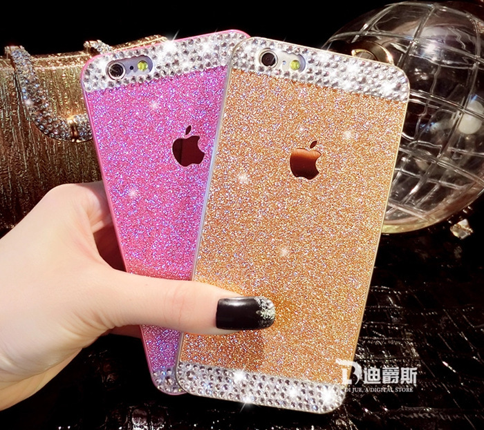Luxury Diamond Rhinestone Bling Flash Giltter Hard ABS Back Plastic Case Cover Apple iPhone 5 5s Capa Carcasa FundasK041715# - Best Regards store