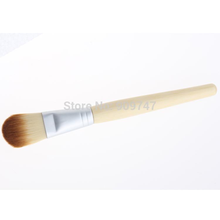 1 пк косметический кисть один бамбук рукоятка маска румяна фонд кисть порошок кисть universal