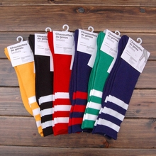 Retail NEW cotton 10 colors Top quality unisex stripe AA thick towel summer Skateboarding Sport long stocking