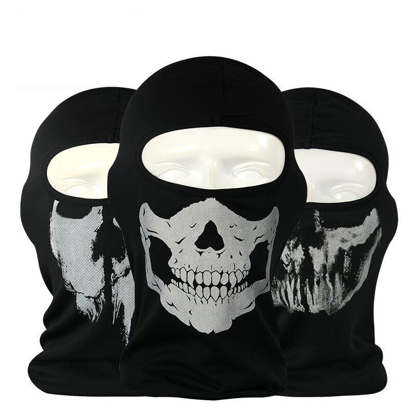 Hot Sale New Cycling Motorcycle skull mask Ride skeleton Hap Balaclava Hood Cosplay Costume Full Face Masks(China (Mainland))
