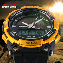Solar Powered Man Watch 2014 Quartz Waterproof Wristwatches For Men Boys Fashion Military Sports Watches Relogio Masculino Reloj(China (Mainland))