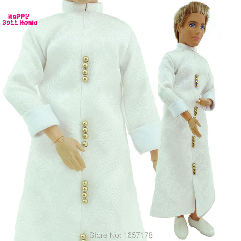 Free Transport Handmade 1 Set Restricted Assortment Aladdin Classic Gown Model White Garments Go well with For Barbie BF Ken Doll Equipment
