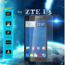 Buy 0.3mm 9H tempered glass ZTE Blade L3 screen protector protective guard film front glass +clean kits for $1.46 in AliExpress store