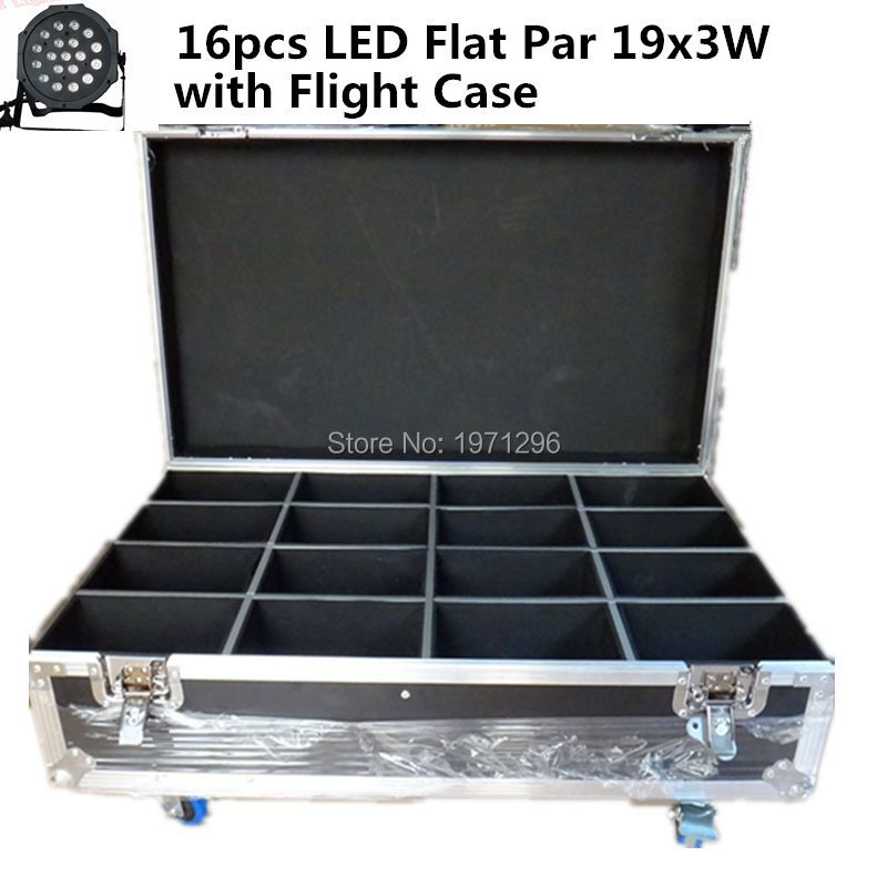 16pcs/lot with a flight case19x3W RGB LED SlimPar 64 with 3/7Channels DMX, Auto Run, Sound Active, Music Control, Strobe, Mater(China (Mainland))