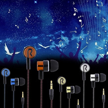 2016 Metal Earphones Jack Standard Noise Isolating Reflective Fiber Cloth Line 3.5mm Stereo In-ear Earphone Earbuds Headphones(China (Mainland))