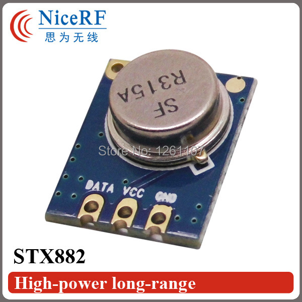 10pcs/lot Low Cost ASK Long Distance Wireless RF Transmitter Module in 315MHz STX882 TX Module(China (Mainland))