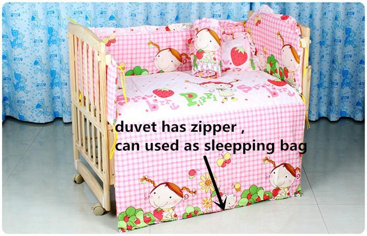 Фотография Promotion! 10PCS Baby Bedding Sets,Infant Bedding Set Baby Crib Sheets (bumpers+matress+pillow+duvet) 100*60/110*65cm