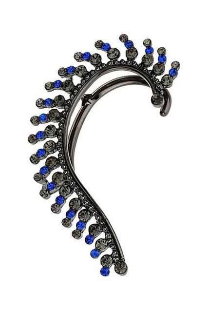 1PC Free Shipping~~Blue Multi Glass Stone Modern Midnight Ear Hanger Earrings For Women/Lady/girl,JP041002