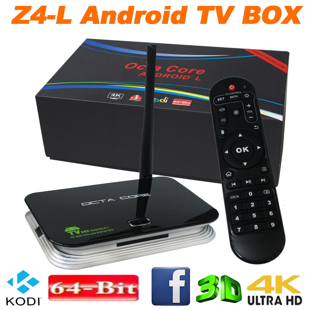 ANEWKOID Z4 L Android 5.1 4K Smart TV Box 2GB+8GB Flash Rockchip 3368 Quad-Core Bluetooth 4.0 2.4GHZ+5.8GHZ Wifi 3D Media Player(China (Mainland))