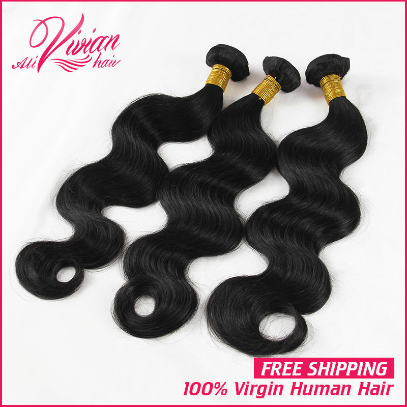6A Virgin Hair 3pcs/lot Unprocessed Peruvian Virgin Hair Body Wave Human Hair Bundles Body Wave World Best Hair on Sale(China (Mainland))