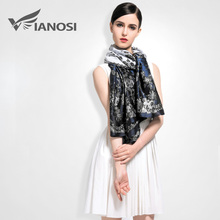 [VIANOSI] 2016 Newest Top Design Women Scarf Luxury Brand 100% Silk Scarves Shawl High Quality Print Bandana VA007(China (Mainland))