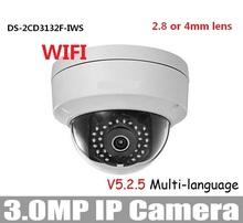 HIKV * СЬОН 3-МЕГАПИКСЕЛЬНОЙ WI-FI Камера DS-2CD3132F-IWS 2.8 мм 4 мм 6 мм 3-МЕГАПИКСЕЛЬНАЯ Купольная Поддержка PoE 5.25 Версия