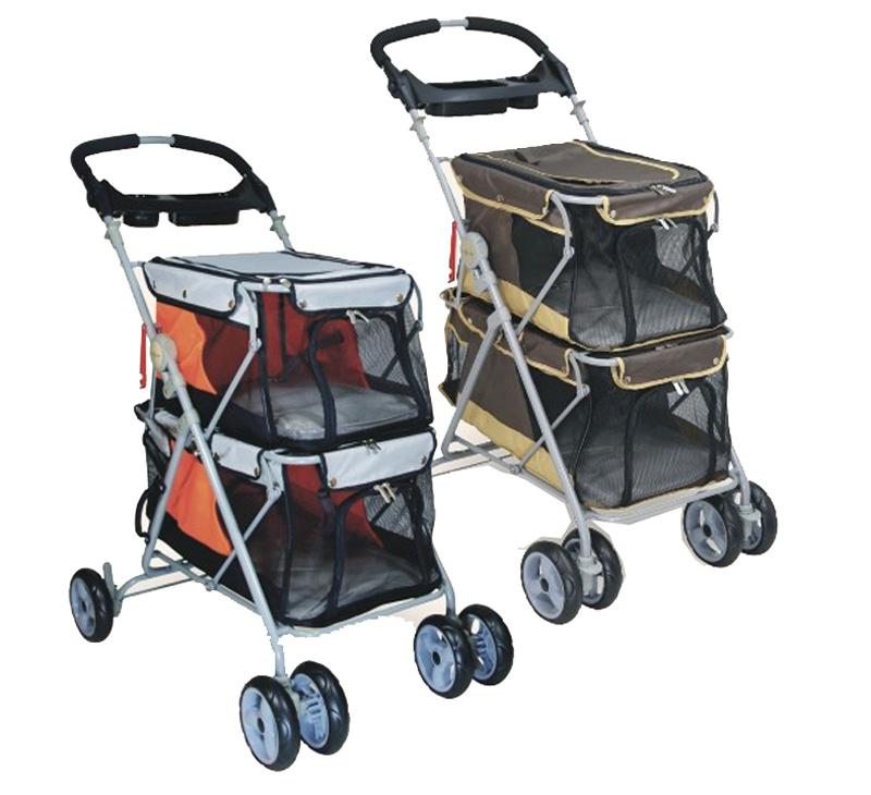 2016 new design pet stroller for 2 dogs load 25kg dog for Garden design troller