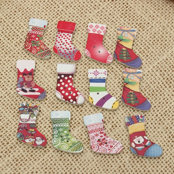 Christmas Sewing Craft Ideas Part - 48: Christmas Craft Ideas Sewing : Hot Sale Pcs Cute Wooden Santa Christmas  Socks Stocking