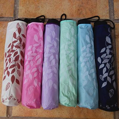 Fancy umbrella Ms. sun three folding folding Korea cute creative UV sun s clear umbrella free shipping(China (Mainland))