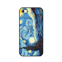 Buy with famous artists paintings Starry Night Van Gogh phone hard plastic case Cover for iPhone 4s 5s se 5c 6 6sp 7 7plus 8 8p x for $1.29 in AliExpress store