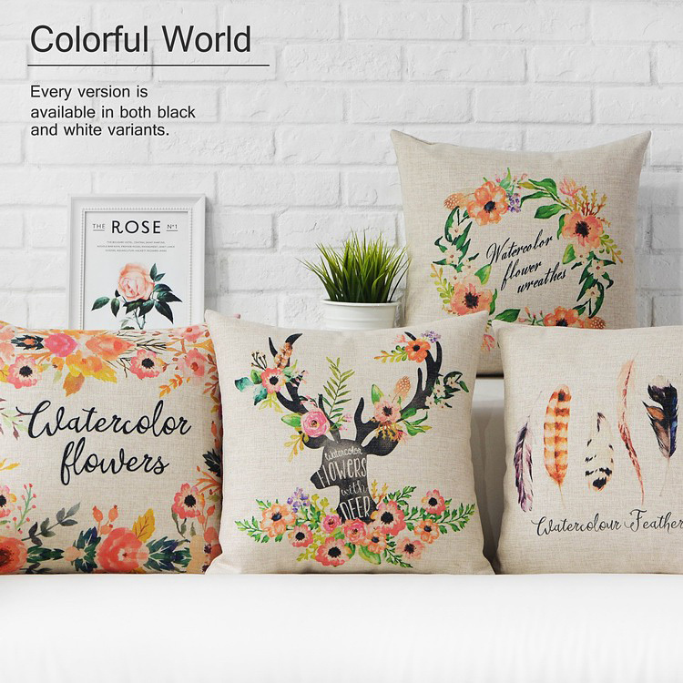 Creative and Comfortable Cushions Home Decor Luck European style Decorative Cushion Pastoral styleCushions Home Decor wholesale
