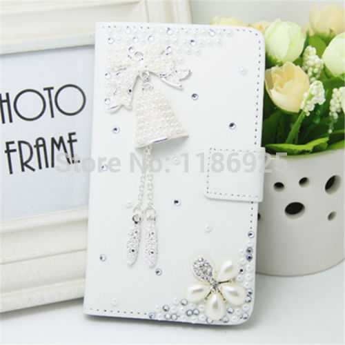 New Luxury Pretty Flower Bling Magnetic Flip Style Leather Hard phone Case Cover For LG Google Nexus 4 E960 Cell(China (Mainland))