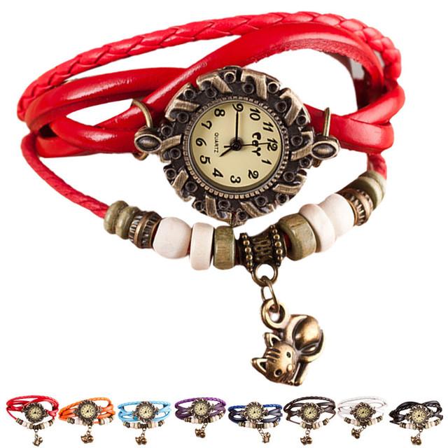 Women's Cat Pendant Stylish Watches