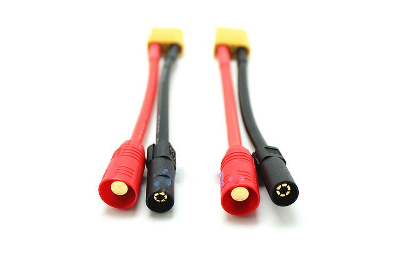 HM Accessories XT90 turn XT150 AS150 plug DJI S900 S1000 battery adapter