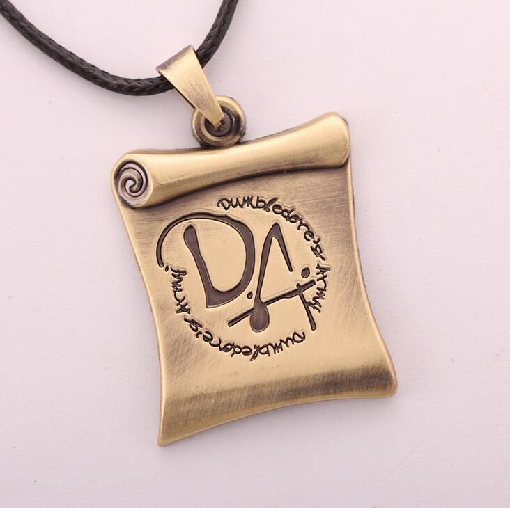 Hot New Harry Potter Da Scroll Game Cosplay Logo Mark Alloy Necklaces Japan Animation Small Pendant Wholesale
