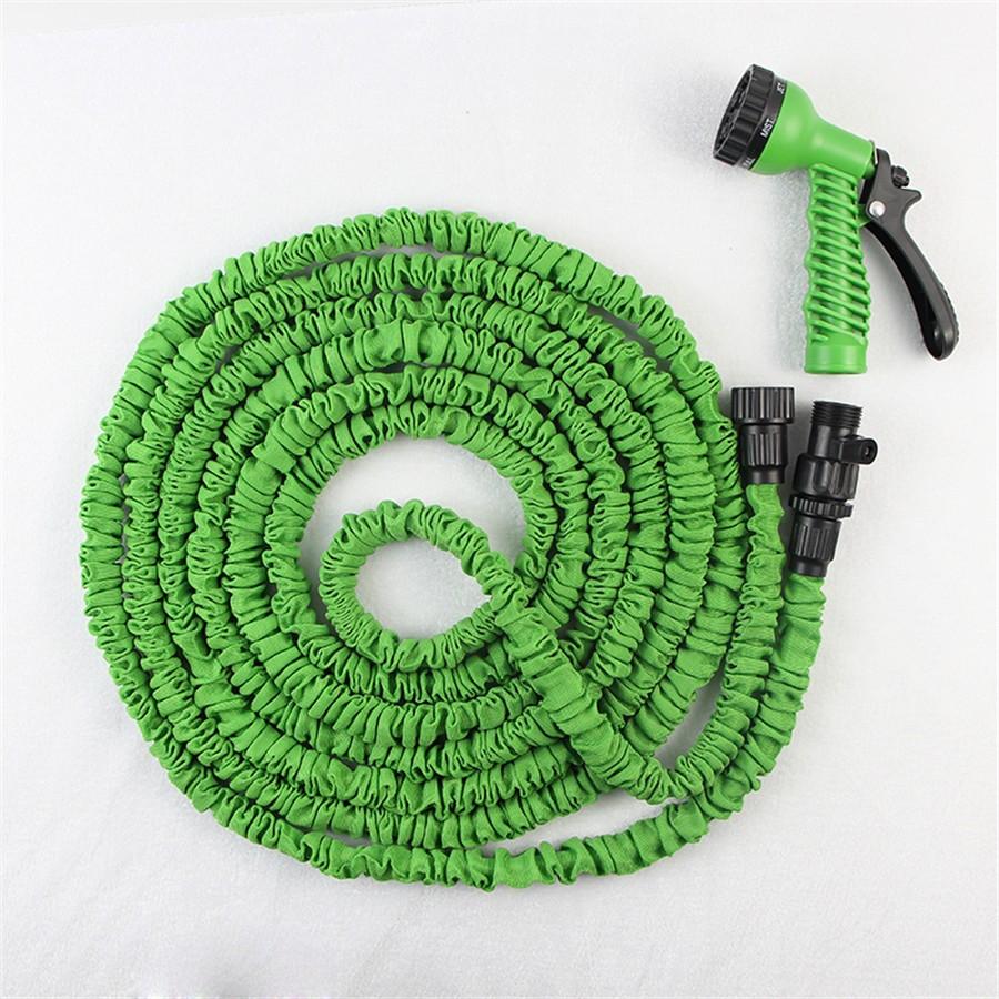 popular Gardening Products 50/75 Feet Plastic Guns For Usa Soft Garden Hose, Magic Garden Stretch Hose With Adjustable Sprayer(China (Mainland))